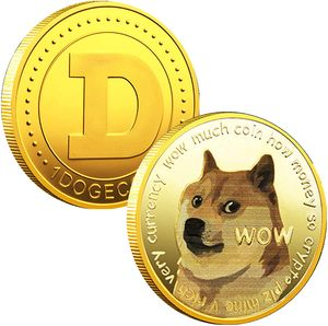5 Stück Gold Dogecoin Gedenkmünze Vergoldete Doge Coin 2021 Sammlermünze in limitierter Auflage mit Schutzhülle