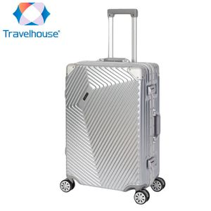 Travelhouse Roma - Koffer M, Silber, Polycarbonat Hartschale, Alu-Rahmen