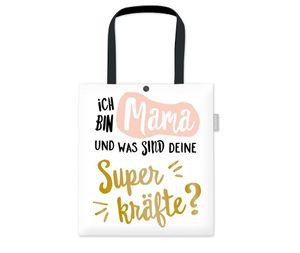 Grafikwerkstatt Baumwoll-Beutel 39 x 44 cm Ich bin Mama und was sind Deine Superkräfte?
