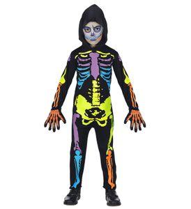 Buntes Skelett-Overall, Größe:116