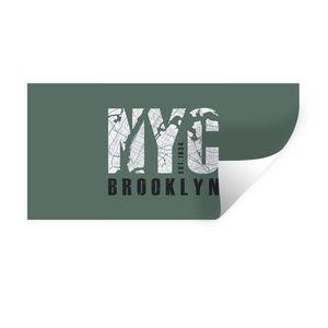 Wandaufkleber - New York - Groen - NYC - 80x40 cm - Repositionierbar