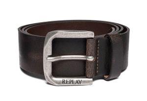 REPLAY Gürtel Ledergürtel Herrengürtel Jeansgürtel Braun 5348, Länge:90, Farbe:Braun