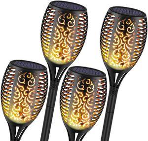 Speed 4x Solarleuchte 96 LEDs Garten Beleuchtung Garten Licht Flamme  Licht IP65 Wasserdichte Dekoration