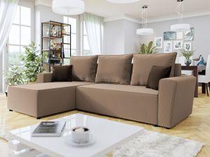 Mirjan24 Ecksofa Tosia, Design Eckcouch Couch mit Bettkasten und Schlaffunktion, L-Form Sofa (Farbe: Manila 21 + Manila 21 + Manila 04)