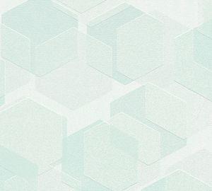 A.S. Création Vliestapete Essentials Tapete grün 10,05 m x 0,53 m 307174 30717-4