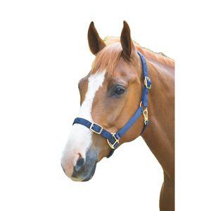 Shires Pferdehalfter Verstellbar ER718 (Small Pony) (Marineblau)