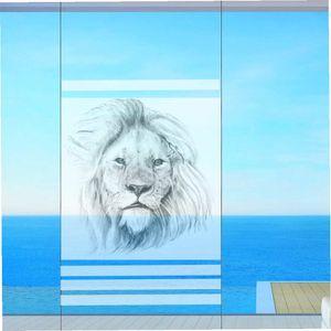 Fenster Sichtschutz  Milchglasfolie Sichtschutzfolie Fensterfolie mit Druck Motiv  Löwe 50cm breit