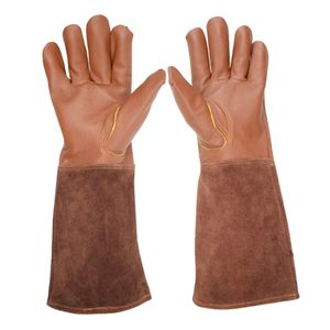 Lederschutzhandschuhe Gartenhandschuhe Für Dornbüsche Rosenschnitt M Braun