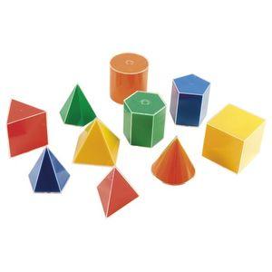 EDUPLAY 120-121 Geometrische Volumen mit Abwicklung, bunt (10er Pack)