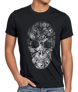 style3 Nature Skull T-Shirt Herren Totenkopf, Größe:XXXL, Farbe:Schwarz