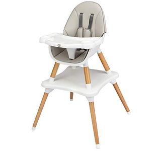 GOPLUS 2 in 1 Hochstuhl Baby, Baby-Fütterungsstuhl mit Verstellbarem und Abnehmbarem Tablett, Babystuhl mit 5-Punkt Gurt, Geeignet für Baby von 6 Monaten bis 3 Jahre, Robuste Struktur, Farbwahl (Grau)