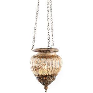 Teelichthalter zum Hängen in stilvollem Vintage Look L 47 cm Windlicht zum hängen