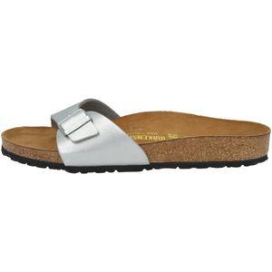 BIRKENSTOCK Madrid Damen Sandale Silber Schuhe, Größe:39