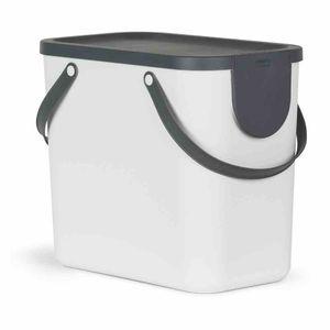 "ROTHO Recycling-Müllsystem ""Albula"" 25 l weiß J40105"