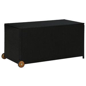 vidaXL Garten-Aufbewahrungsbox Schwarz 120x65x61 cm Poly Rattan
