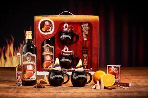 Feuerzangentasse Geschenkset, Klassisch, Schwarz - für Feuerzangenbowle