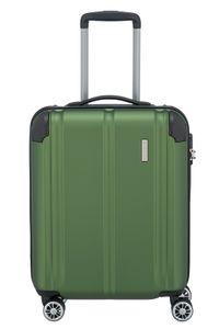 Travelite City 4-Rollen ABS Bordtrolley Kabinen Trolley S 55 cm 3,1 kg, Farbe:Grün