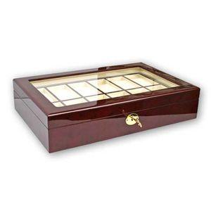 Uhrenbox Lackholz Kasette in Klavie für bis zu 12 Uhren 5819