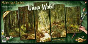 Schipper 609450832 Malen nach Zahlen Unser Wald Polyptychon