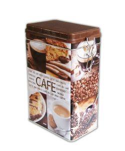 KAFFEEDOSE aus Metall luftdicht 19,5x14x8,5cm Blechdose Dose Vintage Retro Kaffee Vorratsdose Aromadose 55