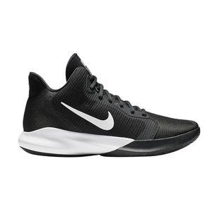 Nike Herren Sportschuhe Basketballschuhe Nike PRECISION III schwarz weiß, Größe:45