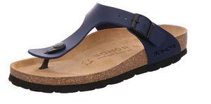 Rohde 5628 Alba  Damen Zehentrenner Pantoletten Clogs Weite G blau, Größe:41 EU, Farbe:Blau