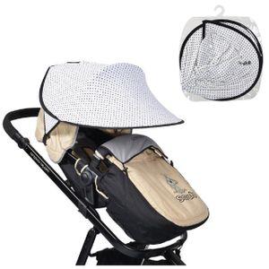 Cangaroo Universal Sonnenschutz für den Kinderwagen Schutz vor Sonne Wind Staub, Farben:Punkte