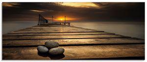 ARTland Glasbild Sonnenaufgang am Schwarzen Meer Glasbild Größe: 125x50 cm