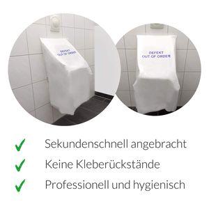 2x Urinalabdeckung - Folie für defekte Urinale / Pissoir Steh WC Pinkelbecken Schutz