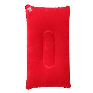 Multifunktion Reisekissen Aufblasbar Sitzkissen Luftkissen Selbstaufblasend Campingmatte Farbe Hellrot Größe 43x27cm