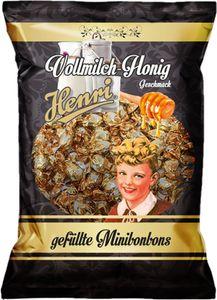Henri Minibonbons Vollmilch Honig Hartkaramelle mit Honigfüllung 200g