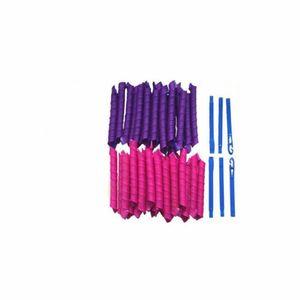40 stk. 50cm Magic Frisur Bendy Haar Lockenwickler Spiral Curls DIY Werkzeug
