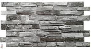 3D PVC FLIESEN Wandpaneele Wandverkleidung PVC-Verkleidung Grey Stone Wand Steinimitation (0,48qm)