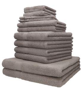 Betz 12-tlg. Handtuch-Set PALERMO 100% Baumwolle, Farbe - stone