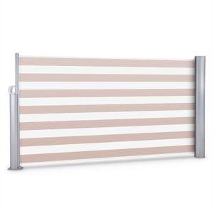 Blumfeldt Bari 316 - Seitenmarkise , Standmarkise , Seitenrollo , Sichtschutz , Sonnenschutz , Polyester 300 x 160 cm , ausziehbar , wasserabweisend , UV-beständig , selbstspannend , creme-weiß