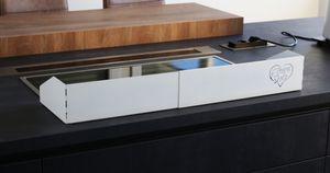 Elternstolz Herdschutzgitter XXL Metall weiß verstellbar von 45-90cm