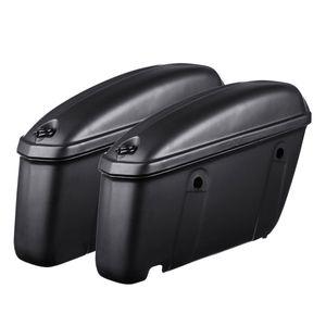 AUDEW Paar Motorrad Seitenkoffer Hartschalenkoffer Satteltasche Werkzeugkoffer Mat
