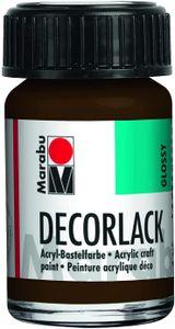 "Marabu Acryllack ""Decorlack"" dunkelbraun 15 ml im Glas"