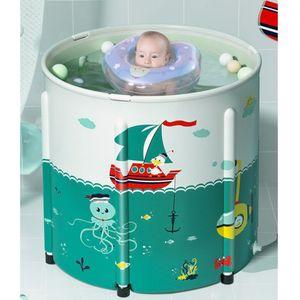 WYCTIN Tragbare Faltbare Badewannen PVC  Spa Wasserwanne 80*80cm