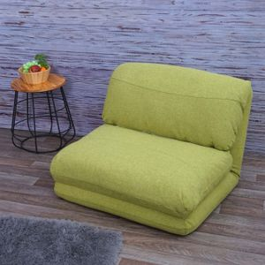 Schlafsessel HWC-E68, Schlafsofa Funktionssessel Klappsessel Relaxsessel, Stoff/Textil  grün