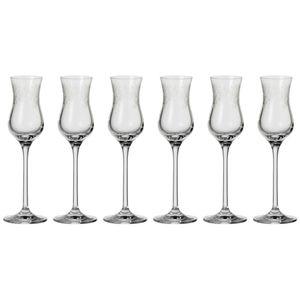 Leonardo Chateau Grappaglas 6er Set, Schnapsglas, Aperitifglas, Edles Glas mit Gravur, 80 ml, 35298