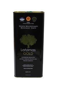 Latzimas Gold Olivenöl extra nativ 5 Liter Kanister erste Kaltpressung von Kreta Griechenland