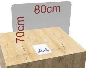 Spuckschutz Plexiglas aus Acrylglasplatte 80x70cm