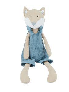 Bieco Fuchs Kuscheltier | Baby Kuscheltier Fuchs aus Leinenstoff & Musselin | Leinen & Baumwoll Kuscheltier für Babys | Stuffed Animal | Fuchs Stofftier Baby | Baby Kuscheltiere | Fuchs Plüschtier