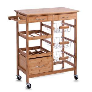 Zeller Küchenrollwagen m. Holztop, Holz