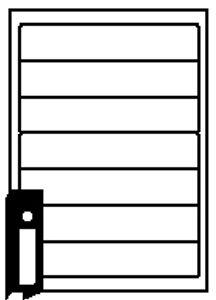 70 Etiketten 10 Blatt A4 192 X 38 Ordner Rückenschilder