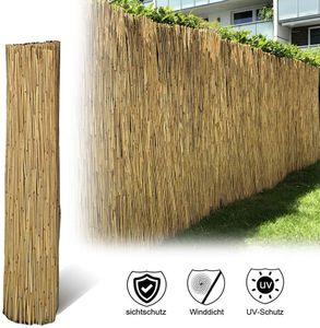 Sichtschutz Schilfrohr Premium 90x600 cm (HxB) Schilfmatte für Balkon oder Windschutz Blickschutz