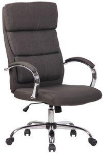 CLP Bürostuhl Bradford höhenverstellbar und drehbar, Farbe:dunkelgrau, Material:Stoff