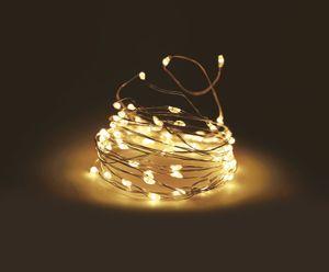 Silver Wire Lights 100 LED - Draht Lichterkette - warmweiß