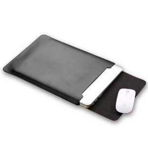 Laptop-Hülle aus Mikrofaser-Leder Schlanke Hülle kompatibel mit Macbook Air und Macbook Pro & Pro Retina 13,3 Zoll/Schwarz
